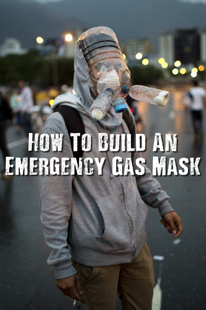 How To Build An Emergency Gas Mask - You can buy top notch military grade gas masks from the Internet, hardware stores and from military surplus outlets but what if you needed one quickly and in an emergency? See how to build your own right here!