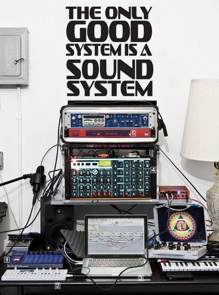 Elegant SOLUTION SOUNDSYSTEM Wandtattoo TYPO Streetart