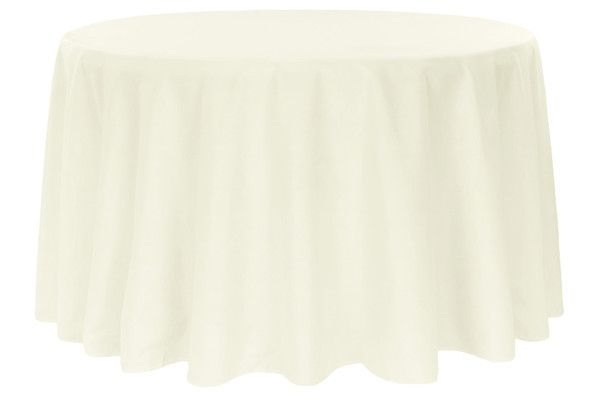 Polyester 120 Round Tablecloth Light Ivory Off White 120 Round Tablecloth White Round Tablecloths Round Tablecloth
