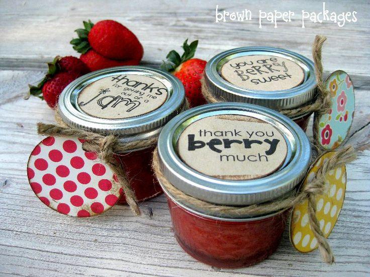 thank you jam jars