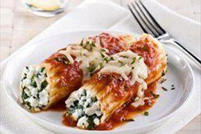 Chicken, Cheese & Spinach Manicotti