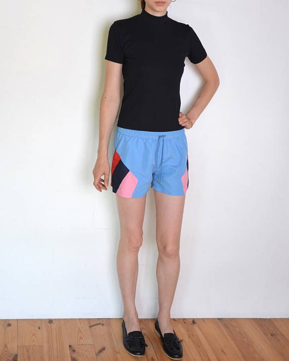 90's colorblock board shorts surfboard shorts beach