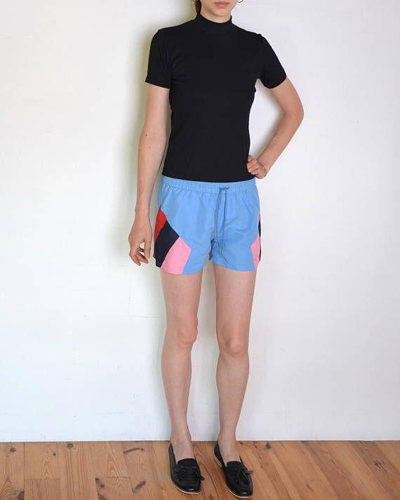 90's colorblock board shorts surfboard shorts beach