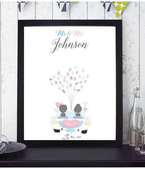 Just Married Car Fingerprint Balloons Guest by FUNtasticDesign