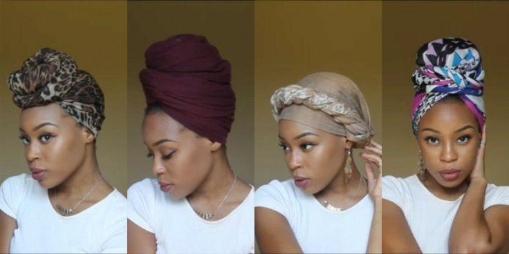 4 Quick & EASY Headwrap/Turban Styles [Video] via @blackhairinfo