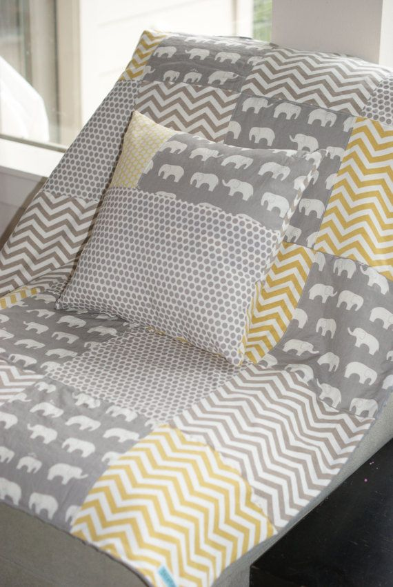 Hey, I found this really awesome Etsy listing at https://www.etsy.com/listing/180775979/grey-elephants-yellow-grey-dots-chevron