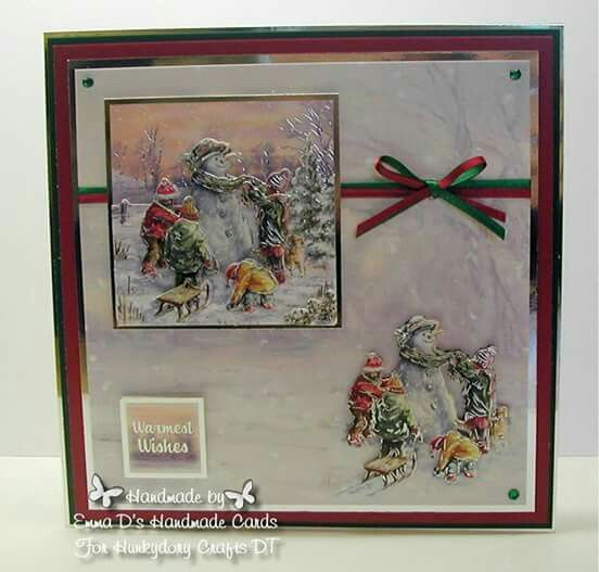 Hunkydory Crafts Tis The Season decoupage - made for the Hunkydory DT