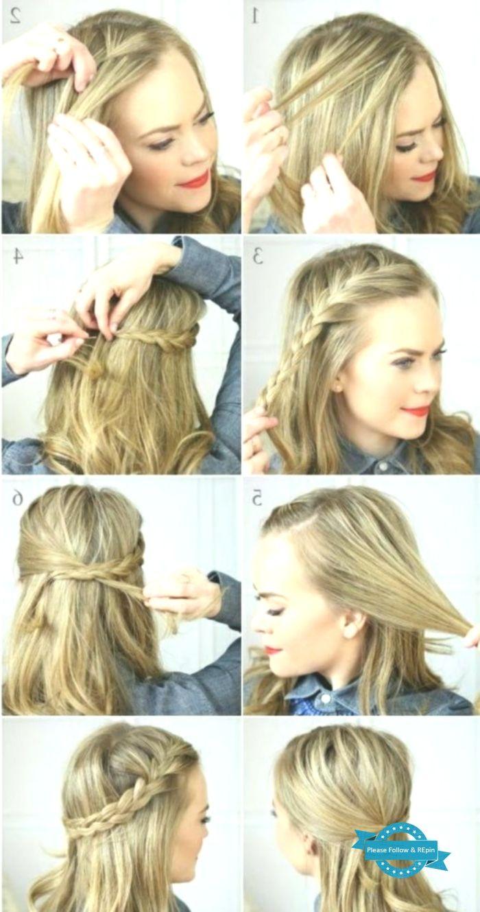 Wie Macht Man Eine Einfache Frisur Mittellanges Haar Frisuren Einfache Eine Einfache Cabello Medio Caballos Con Trenzas Peinado Facil