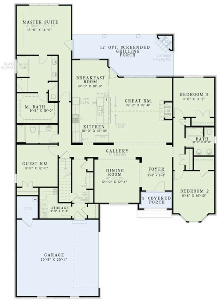Master needs to be bigger and the kitchen nook very cute for Dream kitchen floor plans