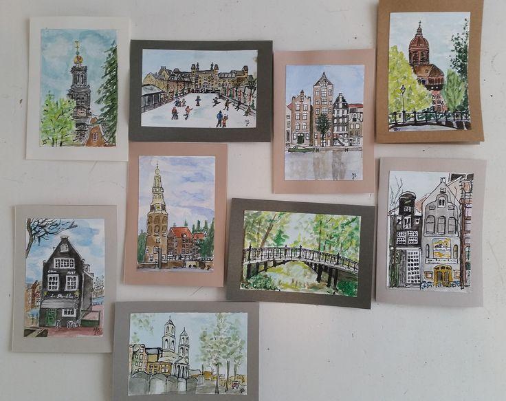 eerste serie Amsterdam kaarten