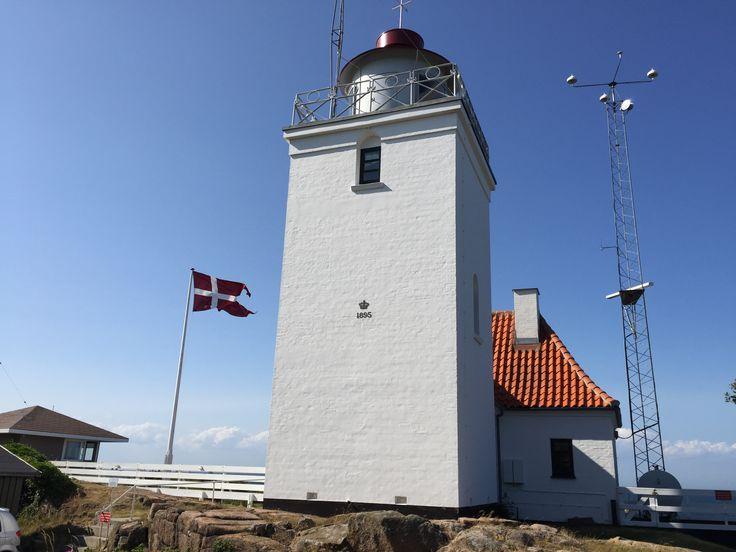 Hammer Odde Lighthouse, Island of Bornholm in the Baltic Sea