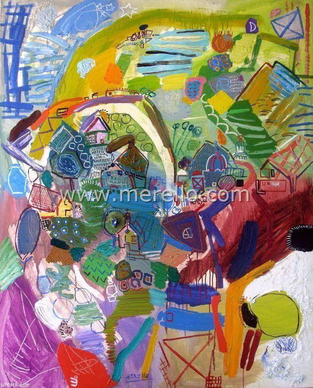 """LOS CAMPOS DEL POETA.  Jose Manuel Merello.- """"Los campos del poeta."""" (162 x 130  cm)  Arte contemporáneo. Pintores españoles actuales. Arte actual siglo 21. Pintura moderna. Comprar cuadros de artistas contemporaneos. México, Miami, Madrid. Arte, Lujo e Inversión. Invertir en Arte Moderno. http://www.merello.com"""