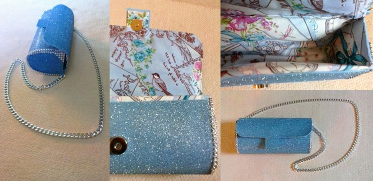 """Night out"" sparkling blue purse"