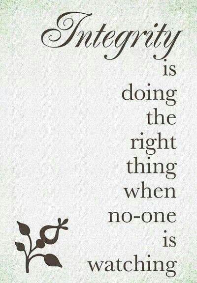 #integrity