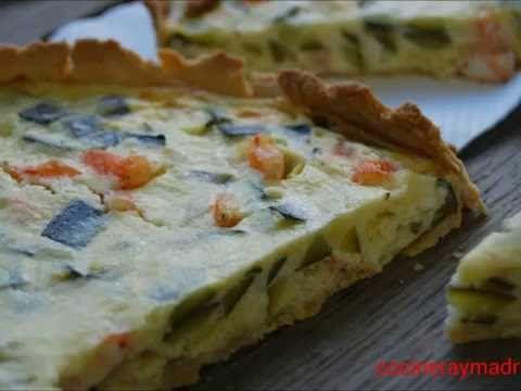 Quiche de Calabacín y Langostinos - Cocinera y Madre