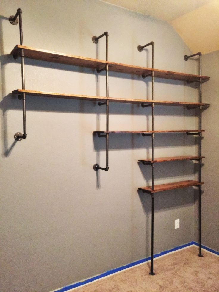 how to install industrial shelves