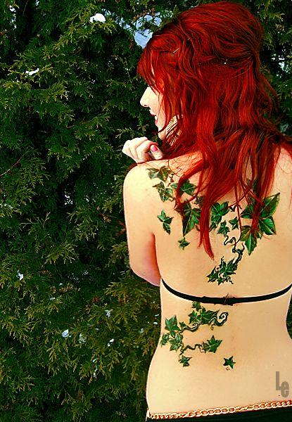 english climbing vine tattoo: Tattoo Ideas, Hair Colors, Red Hair, Ivy Tattoo, Hair Tattoo, Body Art, Back Tattoo, Vines Tattoo, Poisons Ivy