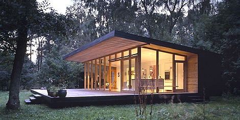 Small modern guest home yardage pinterest beautiful for Beautiful small modern houses