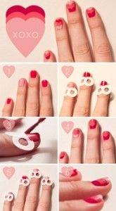 .: Heart Nails, Nails Art, Cute Nails, Valentinesnails, Nailsart, Valentines Nails, Nails Ideas, Valentinesday, Valentines Day Nails