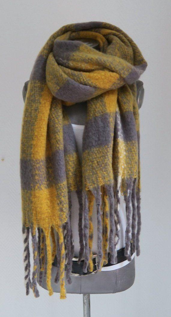 autorisierte Website preiswert kaufen das Neueste Xxl flush scarf yellow, scarf grey ochre yellow, women's ...