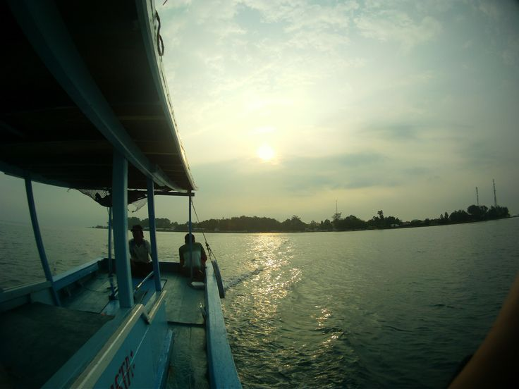 Beautiful Sunrise of Indonesia on the way to dive site in Pulau Pramuka