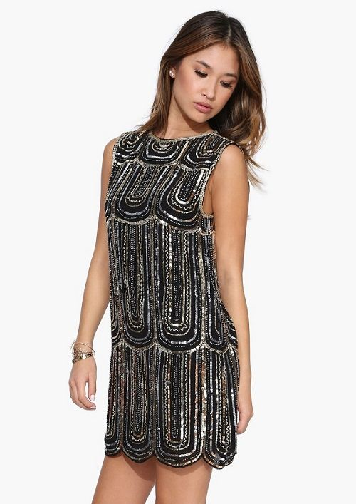 If you want to SHINE do not be afraid of a little glamour! It's the perfect time for those sequins and golden accents, after all Christmas should be joyful! Necessary Clothing Jordan Baker Sequin Dress $44.99