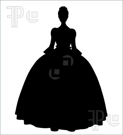 Illustration of Cinderella illustration silhouette on a white background