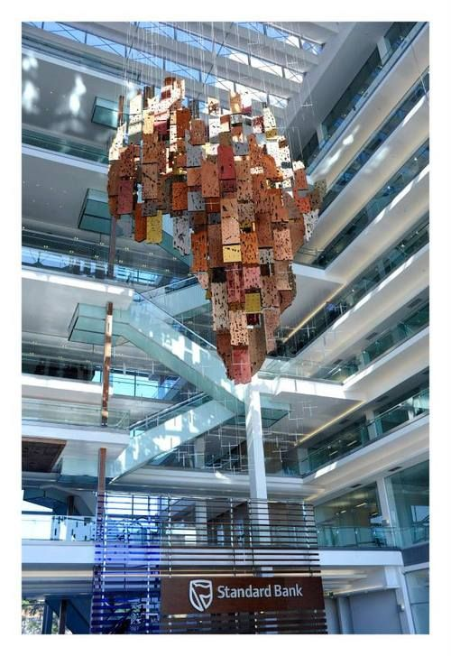 Seed: A Scupltural Installation at Standard Bank Offices, Johannesburg, South Africa.