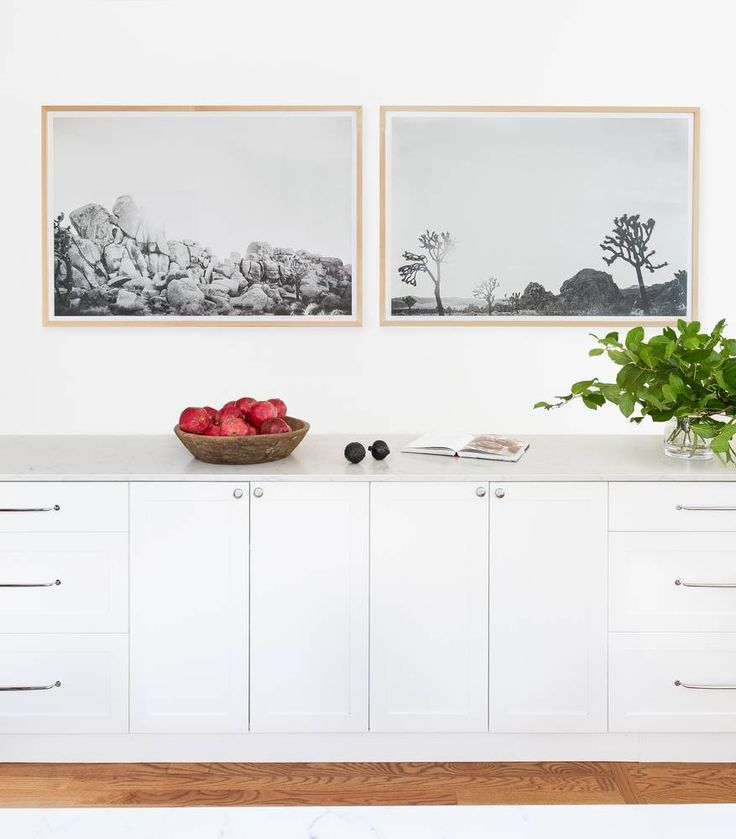 black and white kitchen art