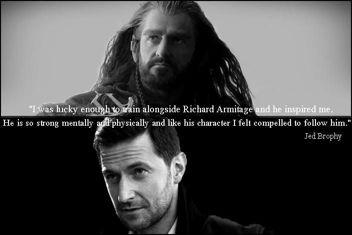 Jed Brody on Richard for The Hobbit