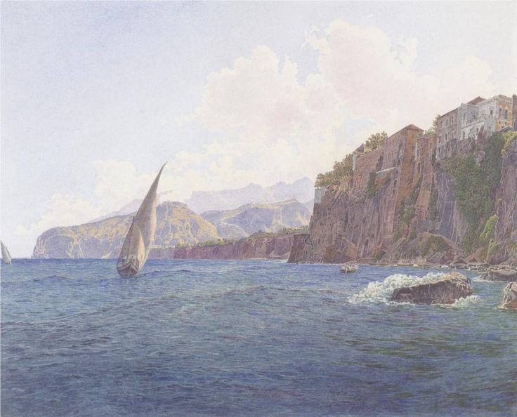 Torquato Tassos Vaterhaus in Sorrent bei Neapel - Rudolf von Alt