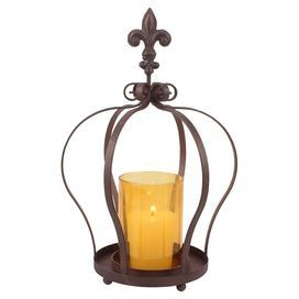 ... Rust and amberFeatures: Antique-inspired designCrown motif