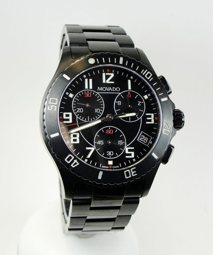 17 images about men s luxury prestige watches movado 84 mens black chronograph watch stainless steel swiss movement in jewelry watches watches parts accessories wristwatches
