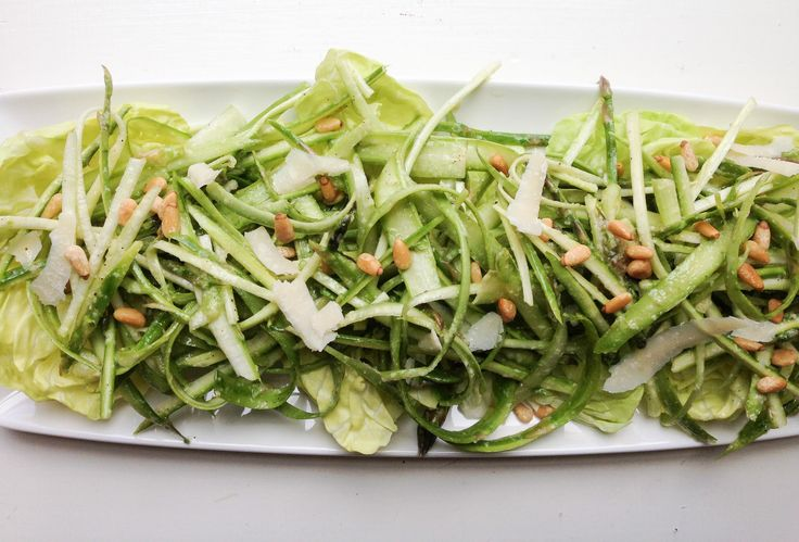Ribboned Asparagus Salad With Lemon Recipe — Dishmaps