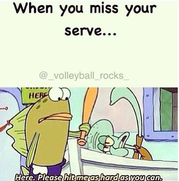 Sadly, yes. I ALWAYS wanna say this! Whether it's a serve in volleyball or a lay up in basketball.