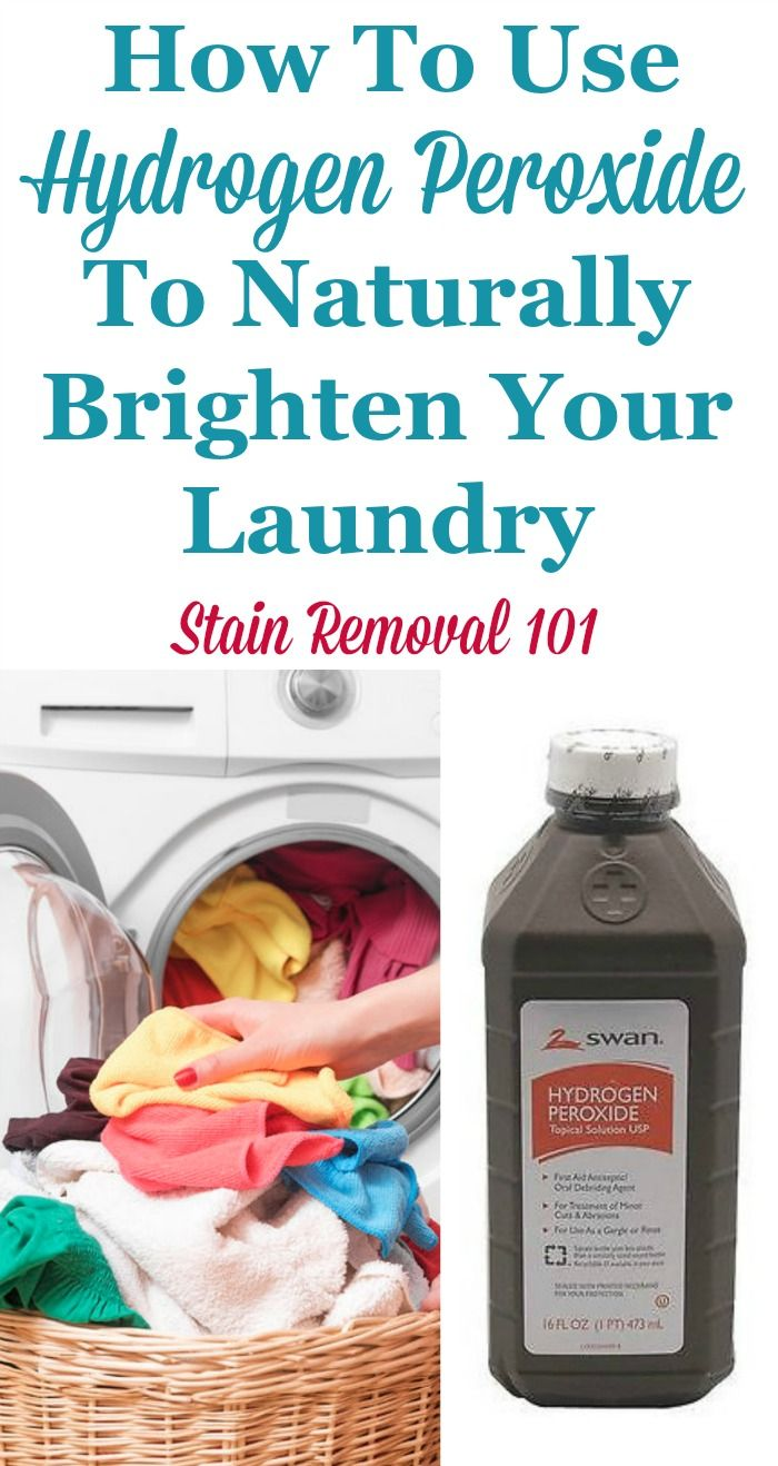 Uses Of Hydrogen Peroxide For Laundry Stains Colors And