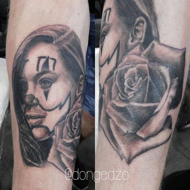 Chicano emilly clarke with rose tattoo