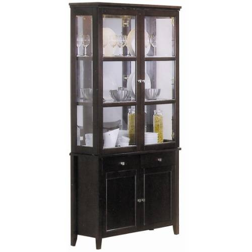 Coaster Furniture 100464 Springs Slim China Cabinet In Cappuccino