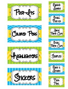 Teacher's Toolboxes are all the rave because they are wonderful! Here is a freebie template for you to make your own. This is completely editable for your to customize your labels. You just need to download the font! Just print, laminate and cut! This pack coordinates with my Turquoise, Lime, and Yellow classroom decor pack!Enjoy :)Amelia