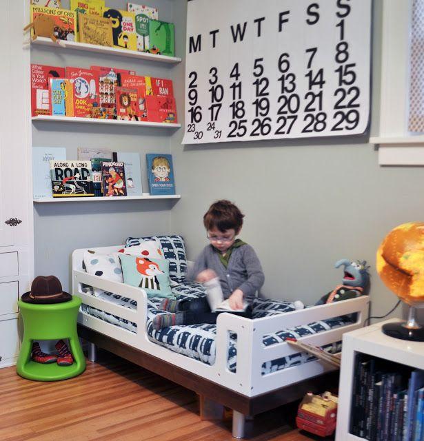 Boys Room- Book Shelves over bed