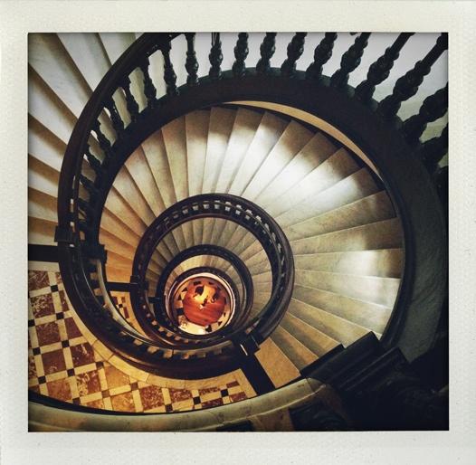 Stairs at Nobis Hotel, Stockholm.
