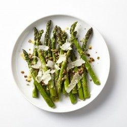 Grilled Asparagus and Spring Onions with Lemon Dressing Recipe - Bon Appétit