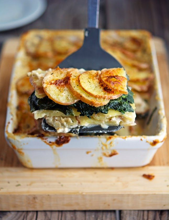 Potato and Kale Gratin | Spinach, Gluten free and Cream