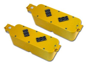 Image of 2 Pack Tenergy Replacement Battery with hard case (Yellow Color) for Roomba APS 4905 400 series Vacuum Cleaner