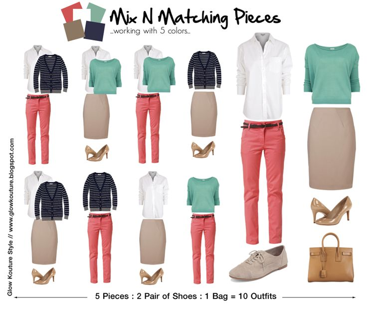 Mix N Matching Pieces : 5 Items = 10 Outfits