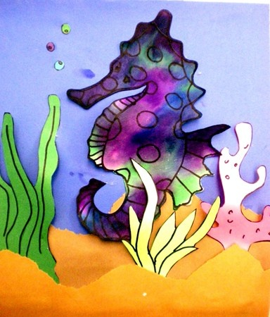 Artsonia Art Museum :: Artwork by Katie3221 diffusion paper sea life