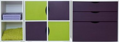 Scallywag Cabin Bed Furniture Plum & Lime. Duo, Quad, 2 x Door Packs & 3 Drawer Chest. 16 Colour options. Made in UK