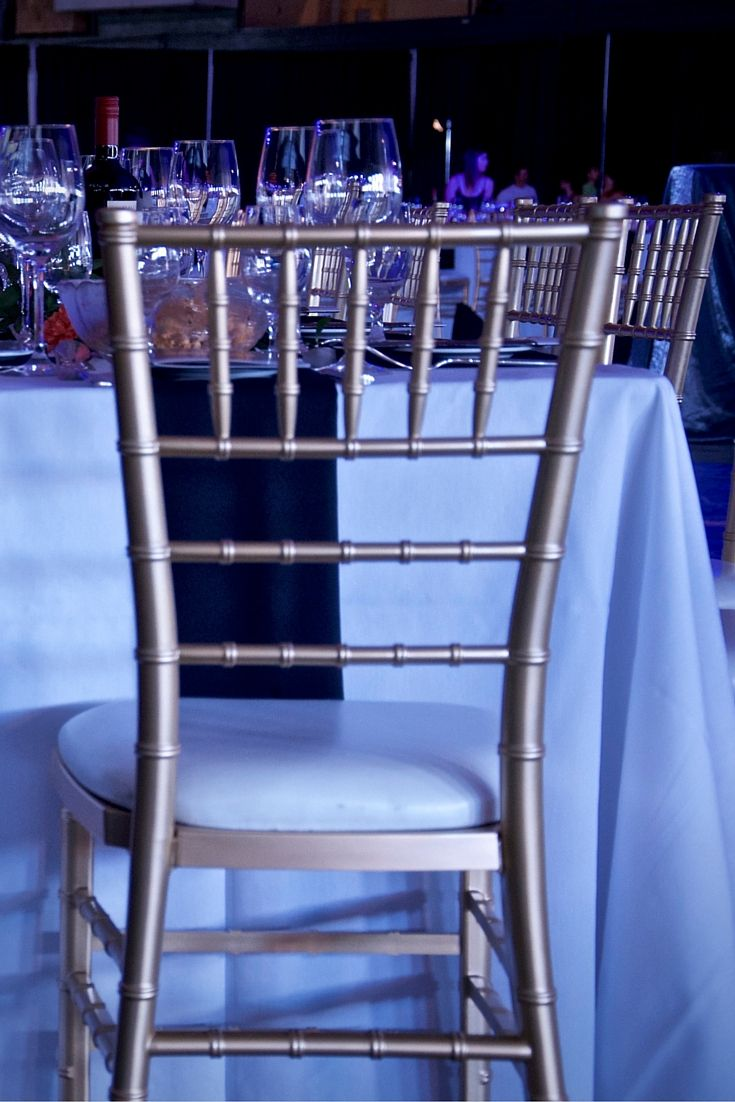 We are always amazed by the dramatic affect our Chiavari Chairs can have at an event! They always add a touch of class!
