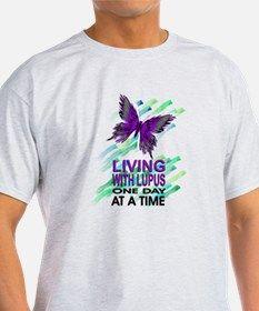 Lupus Awareness Ash Grey T-Shirt for