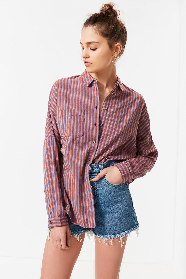 UO Relaxed-Fit Button-Down Shirt | Urban Outfitters